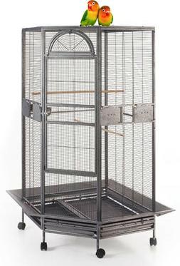 "Large 63"" Corner Bird Flight Cage Cockatiel Parakeet Budgies"