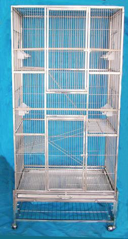 "30""x18x70"" SUS304 Stainless Steel Parrot Cage Bird Cage no r"