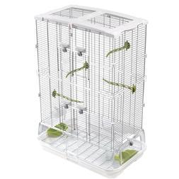 "34""H Medium Bird Cage Perch Stand Finch Parakeet Canary Flig"