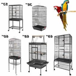 Multi-Size Large Bird Cage Play Top Parrot Finch Cage Macaw
