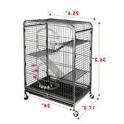 37'' 4 Level Indoor Ferret Rabbit Cage Large Space Ferret Pe