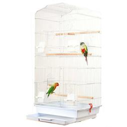 "37"" Bird Parrot Cage Bird Cage with Wood Perches & Food Cups"