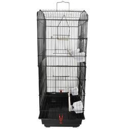 "37"" Bird Parrot Cage Canary Parakeet Finch Bird  With Wood P"