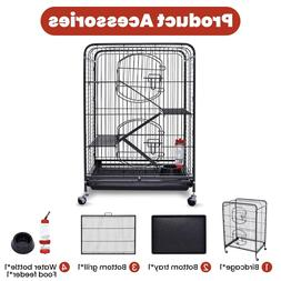 """37"""" Bird Pet Cage Large Play Top Parrot Finch Cage Macaw Coc"""