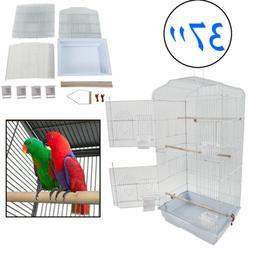 "Portable 37"" Pet Bird Cage Birdhouse Cockatoo Pet Aviary Han"