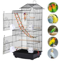 39'' Bird Cage w/Toys for Mid-Sized Parrots Cockatiels Parak
