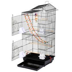 39''H Roof Top Large Bird Cage Parrot Cockatiel Conure Parak