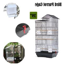 "39"" Large Bird Cockatiel Conure House Parrot Pet Cage  Wood"