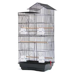 "39"" Large Pet Bird Cage Parakeet Finch Parrot Cages with Woo"