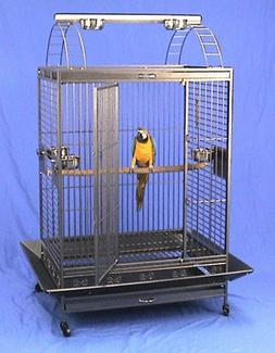 """4 Color, Large Parrot Cage 32""""W x 22""""D X 64""""H For African Gr"""
