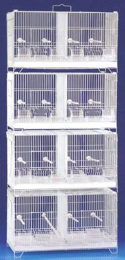 4-Combo Stackable Breeding Bird Cages Finches Aviaries Canar
