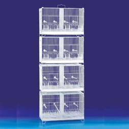 4 Double Divider Stackable Breeding Lovebird Canary Budgie A