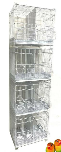 4 of Stackable Double Dividers Breeding Bird Flight Canaries