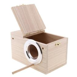 4 Sizes Bird Breeding Wooden Nest Box Nesting Roost Bird Can