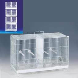 4 Stack and Lock Double Breeding Canary Aviary Bird Cages Di