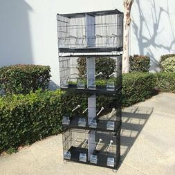 4 Stack and Lock Double Breeder Bird Breeding Cages Dividers