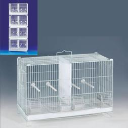 4-Stack and Lock Double Breeding Canary Aviary Bird Cages Di