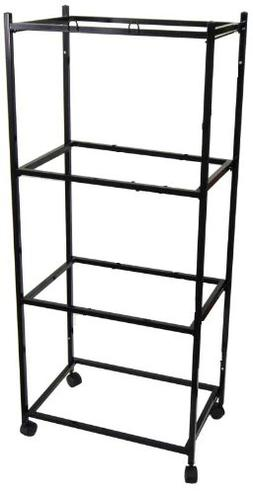 "4 Tiers Stand for 30'x18'x18"" Aviary Bird Cages Black"