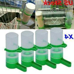 4pcs Pet Drinker Food Feeder Waterer Clip For Cage Bird Parr