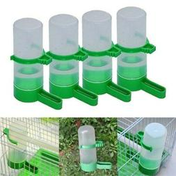 US 4pcs Pet Bird Cage Aviary Parrot Drinker Tube Feeder Wate