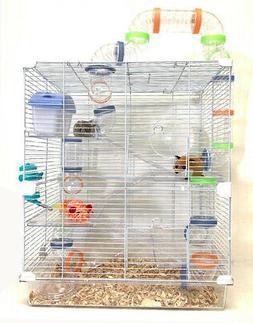 5-Floors Large Crossover Tube Tunnel Habitat Home Cage Hamst