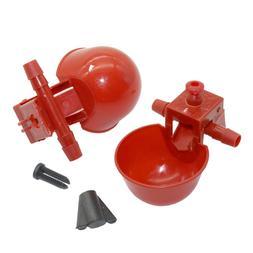 5 pcs Chicken drinking Cups Quail waterer bowls <font><b>Bir