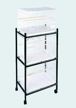 A & E Cage 503 Stand-3 White 3 Tier Stand for 503 Cages
