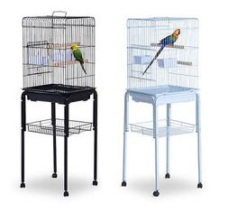 "51"" Bird Cage Large Parrot Play Cockatiel House Metal Stand"