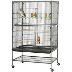 "52""Large Bird Cage Parrot Cockatiel Parakeet Conure Finch Lo"