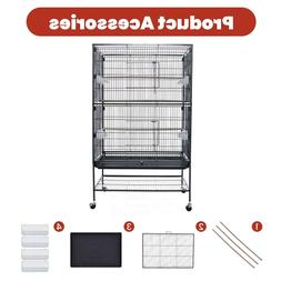 """52"""" Folding Extra Large Bird Cage Parrot Bird Cage With Stan"""