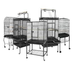 Multiple Sizes Large Bird Iron Cage Play Top Parrot Macaw w/
