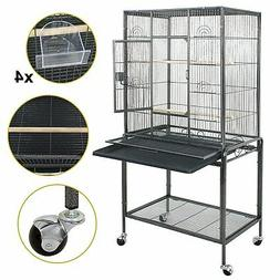 "53"" Large Bird Pet Cage Large Play Top Parrot Finch"