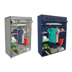 "53"" Portable Closet Wardrobe Clothes Rack Storage Organizer"