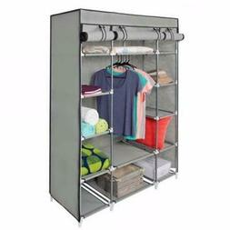 53 portable closet wardrobe clothes rack storage
