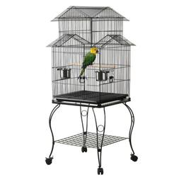 "55"" Triple Roof Top Large Bird Cage for Parrot Cockatiel Par"
