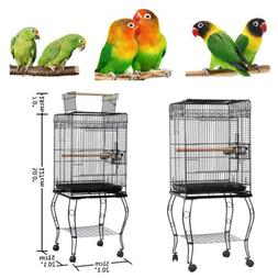 """57"""" Large Parrot Bird Canary Parakeet Cockatiel Cage with Wo"""