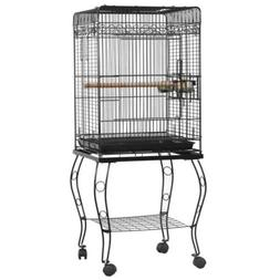 "57"" Parrot Bird Parakeet Cockatiel Finch Bird Cage with Wood"