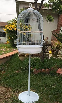 "Mcage 57"" Round Bird Cage with Stand Finch Canary Cockatiel"