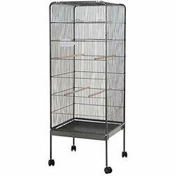"58"" Large Parrot Bird Cage Play Top Pet Supplies w/Perch Sta"