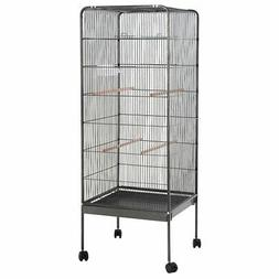 "58"" Large Parrot Bird Cage Play Top Pet Supplies w/Perch Sta"