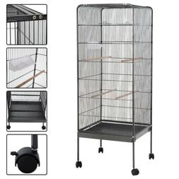 "58"" Large Play Top Parrot Bird Cage Pet Supplies w/Perch Sta"