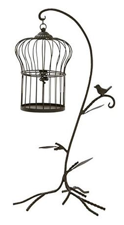 "Deco 79 58544 Metal Bird Cage Stand Sculpture, 12""W/25""H"