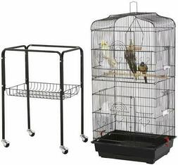 Yaheetech 59.3-inch Rolling Bird Cage for Small Parrots Cock