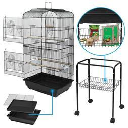 59'' Rolling Bird Cage Parakeet Finch Budgie Conure Lovebird