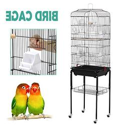 Yaheetech 59.3'' Rolling Standing Medium Bird Cage for Cocka