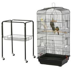 59'' Medium Rolling Bird Cage for Conures Parakeets Finch Ca