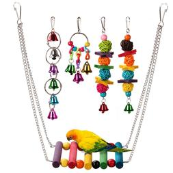5pcs bird ladder swing toys play set