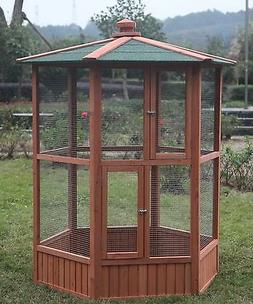 6' Large Pet Parrot Cage Macaw Cockatiel Conure Bird AVIARY