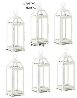 "6 lot WHITE 16"" tall Candle holder Lantern malta lamp floris"