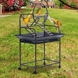 61″ Bird Play Stand Parrot Perch Pet Supply Gym Feeder w/W
